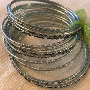 Silvery Bangles Bracelets